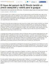 El tique del parquin de El Rincón tendrá un precio asequible y valdrá para la guagua (laprovincia.es).