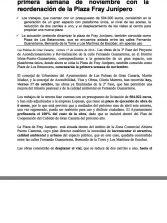 Se reordena la Plaza Fray Junípero -Plaza de Los Betancores- (Nota de prensa).