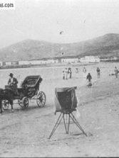 Carroza sobre la playa de Las Canteras.
