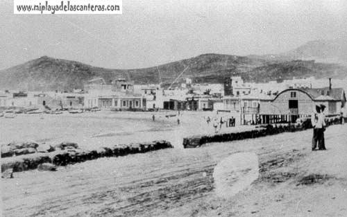 La playa de Las Canteras en los años treinta