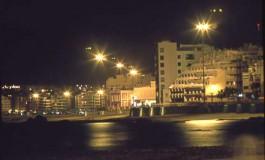 La playa de noche