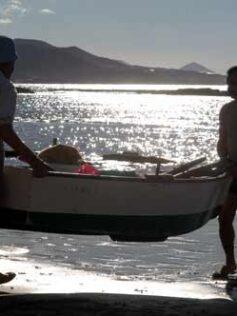 Isaac y Pepillo de pesca