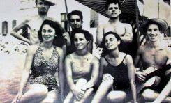 Tony Gallardo, Mela Campos, M. Millares, J.M, Benitez, Elvireta, Lolin Campos y Hector Lopez en 1954