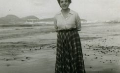 Rita Espino con la Isleta al fondo