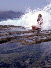 Disfrutando del agua