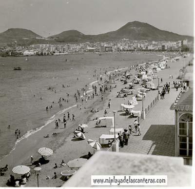 La playa en 1954-colecc. Familia Artiles