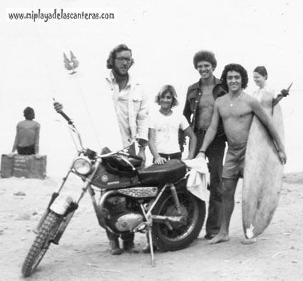 Vicente, Maxi, Yinclan y Jesus Sierra en la Cicer (1975)-colecc. Vicente Girona