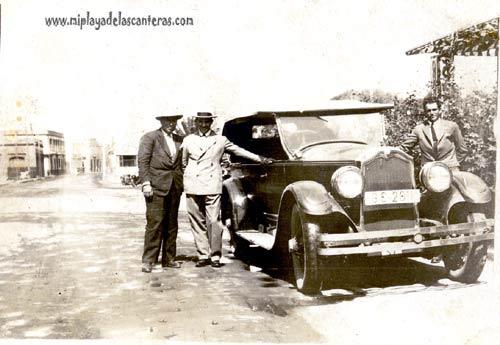 Parque Santa Catalina antiguo(1927). Uno de sus laterales-colecc. Báez Quevedo