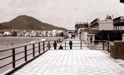 El paseo a la altura del antiguo balneario