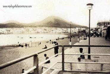 El paseo de Las Canteras en 1950