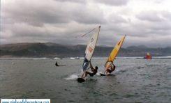Los inicios del windsurfing en Las Canteras