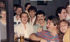EL Pub Q de la década de los 80. Entre otros: Sonia, Salvador, Roger, Jonnhy, Carlos, Mats-colecc. Carlos Ojellón