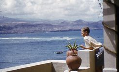 Faelo en su casa de Las Canteras, agosto de 1953-colecc. Juan Melián
