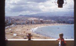 Vista de la playa, en una tarde de agosto de 1953. colecc. Juan Melián.