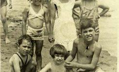 Mª Carmen y Esperanza Talavera; Ansy, Rosi y Juani Miranda; Nino. Finales de los 40