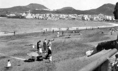 Vista de la playa en la década de los 60-colecc. Alicia Rodríguez