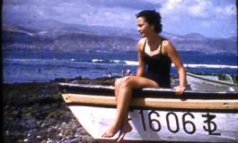 Mº Cristina Alvarez en el verano de 1957-colecc. Juan Melián