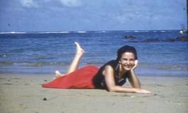 Mª Cristina Alvarez en el verano de 1957-colecc. Juan Melián