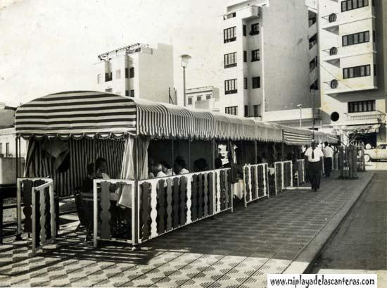 Otra vista del comedor del paseo, llamado popularmente -el tren-, del Restaurante Juan Pérez- colecc. Juan Pérez.
