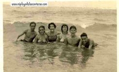Entre otros-as: Mª Carmen, Olga. Ismael y Nono-1954-colecc. Elena Santana Auyanet