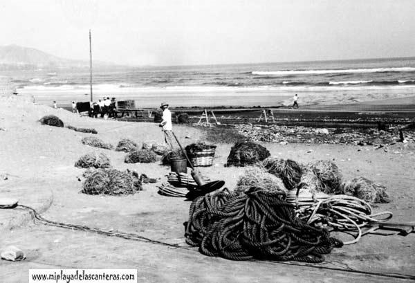 Los sogueros de la playa de la Cicer-1950-colecc. Luis del Rosario Pérez