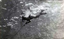 1944, llega el fusil submarino a la playa de Las Canteras