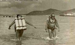 Buceadores en Las Canteras-1950-colecc. Paco Farray