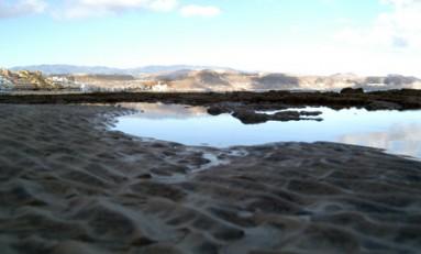 Quien dijo que en Las Canteras no había dunas....