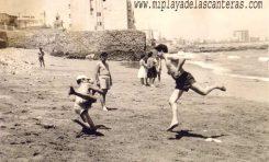La desaparecida playa de Lugo, años 50 del siglo pasado- colecc. Manolo Martín Paiz