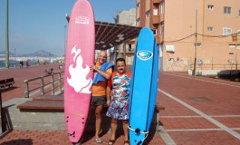 Miguel y Enrique from Hawaii directos a nuestro curso de surf