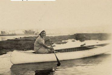 La piragüista de la Barra Grande.