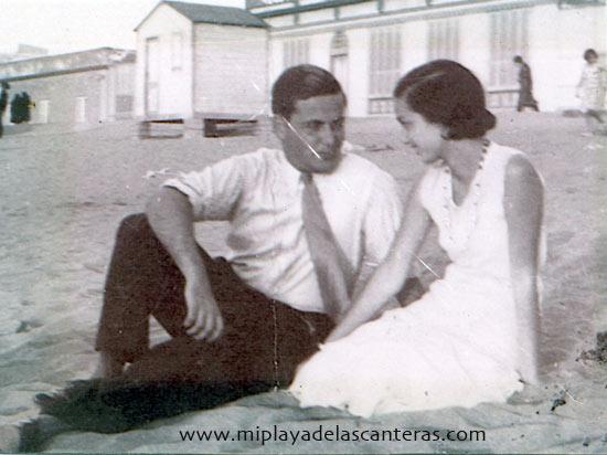 Mª Ángeles Cassasa y Rafael González-agosto de 1931- colecc. Familia González Cassasa.