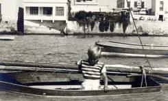 A bordo de un hispania en La Puntilla-finales de los 40- colecc. Agustin Melián