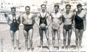 Equipo de waterpolo del Club PALA. 1936