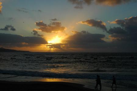 Aunque todavía estamos en pleno verano, el sol ya va hacia el otoño.