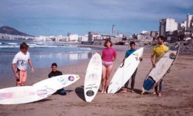 Campeonato de surf en La Cicer 1982