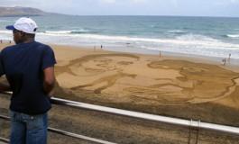 El efímero arte de -Mareas Migratorias-.