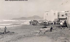 Un temporal destroza la Curva ( Punta Brava)