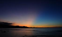 La puesta de sol más hermosa.