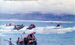 Salida de la travesía en zodíac Las Palmas – Tenerife en 1992.