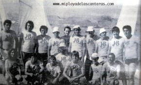 Regatistas de flota de snipe del Real Club Victoria, finales de los años ochenta