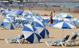 Día de playa sin mucho sol pero de buena temperatura.