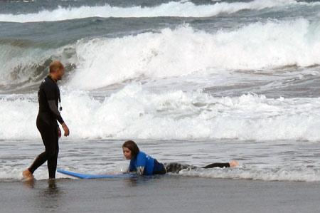 Que duro es aprender hacer surf.