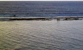 La Barra Grande a media marea.