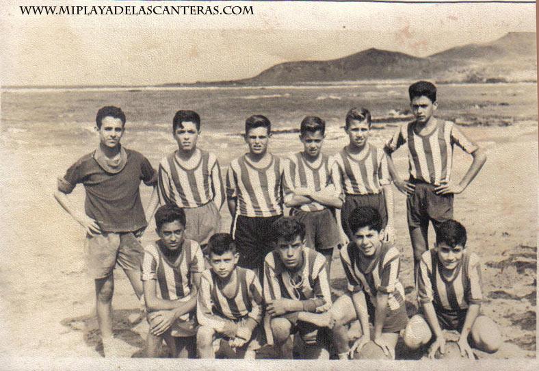 Foto del equipillo de la Peña la Vieja. 1957