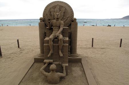 ¿ Atraerá esta escultura la panza de burro…… ?