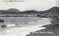 La playa de Las Canteras sobre 1930.