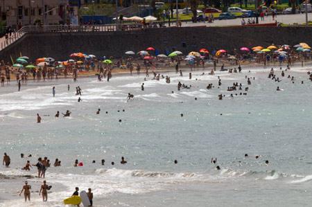 LLenazo en la playa de La Cicer.