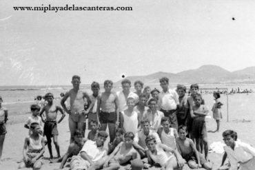 Playa de Las Canteras 1945. Archivo fotógrafico de Miguel Martínez Cruz.