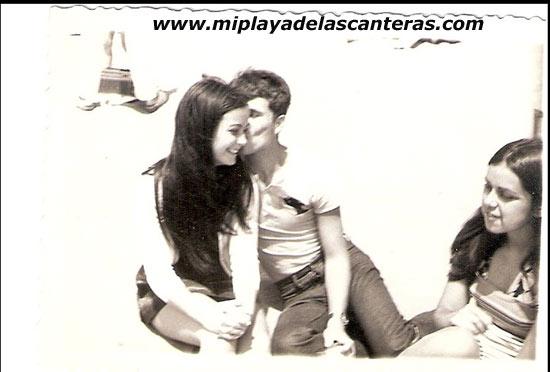 Kela, Miguel Pérez  y Pilar Benitez sobre 1972-Colecc. Miguel Pérez.